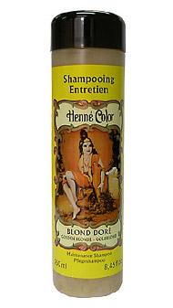 Blond zlatý prírodný šampón s výťažkom z henny - 250 ml