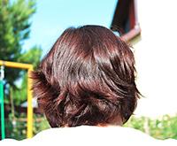 Henna na vlasy - potom