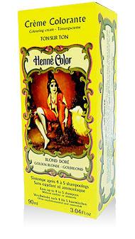 Henna na vlasy krémová - zlatá blond