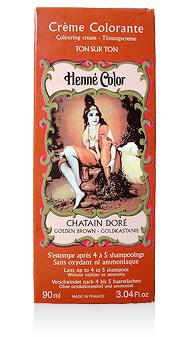 Henna na vlasy krémová - zlatogaštanová