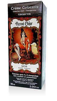Henna na vlasy krémová - čierna