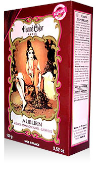 Henna na vlasy prášková-auburn