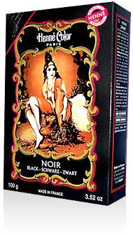 Henna na vlasy prášková-čierna