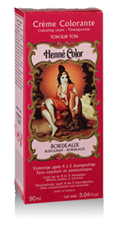 Henna na vlasy krémová - tmavočervená